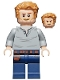 Minifig No: jw048  Name: Owen Grady, Open Neck Shirt