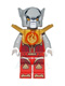 Lot ID: 204473757  Minifig No: loc089  Name: Worriz - Fire Chi, Armor