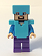 Minifig No: min020  Name: Steve - Medium Azure Helmet and Armor