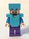Minifig No: min020  Name: Steve - Medium Azure Helmet and Armor