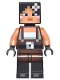 Minifig No: min035  Name: Minecraft Skin 2 - Pixelated, Female with Flower and Suspenders