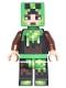 Minifig No: min039  Name: Minecraft Skin 6 - Pixelated, Bright Green and Dark Brown Creeper Costume