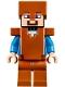 Minifig No: min044  Name: Steve - Dark Orange Helmet, Armor and Legs