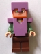 Minifig No: min055  Name: Alex - Medium Lavender Helmet and Armor