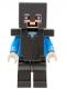 Minifig No: min098  Name: Steve - Pearl Dark Gray Helmet, Armor and Legs