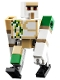 Minifig No: min105  Name: Iron Golem - Brick and Pin Arm Attachments, Black Feet
