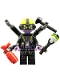 Minifig No: mk056  Name: Syntax - Hammer, Poison Rifle, Fire Extinguisher
