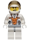 Minifig No: mm009  Name: Mars Mission Astronaut with Helmet and Angry Black Eyebrows and Messy Hair