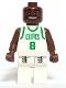 Minifig No: nba040  Name: NBA Antoine Walker, Boston Celtics #8 (White Uniform)