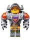 Minifig No: nex007  Name: Axl - Flat Silver Torso
