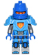 Minifig No: nex039  Name: Nexo Knight Soldier - Dark Azure Armor, Blue Helmet with Eye Slit, Blue Hands