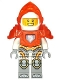 Minifig No: nex080  Name: Lance - Trans-Neon Orange Visor and Armor