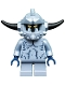 Minifig No: nex108  Name: Stone Monster - Short Legs, Spiked Headgear