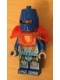Minifig No: nex111  Name: Nexo Knight Soldier - Trans-Neon Orange Armor, Blue Helmet With Eye Slit, Clip on Back