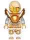 Minifig No: nex146  Name: Lance - Hair, Pearl Gold Armor