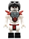 Minifig No: njo030  Name: Frakjaw - with Armor with Red Shoulder Spikes , Aviator Cap and Goggles