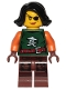 Minifig No: njo218  Name: Cyren - Dark Green Outfit