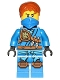 Minifig No: njo249  Name: Jay - Tournament of Elements, Bandana and Scabbard