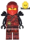 Minifig No: njo277  Name: Kai - Hands of Time, Black Armor, Dual Sided Head