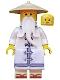 Minifig No: njo315  Name: Sensei Wu - The LEGO Ninjago Movie, White Robe, Zori Sandals