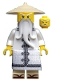 Minifig No: njo354  Name: Sensei Wu - The LEGO Ninjago Movie, White Robe, Zori Sandals, Raised Eyebrows