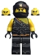 Minifig No: njo472  Name: Cole - Hunted, Gold Asian Symbol on Bandana