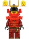Minifig No: njo614  Name: Samurai X (Nya) - Legacy, Red Shoulder Pads