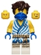 Minifig No: njo648  Name: Jay - Legacy, White Tunic with Blue Trim and Stripes