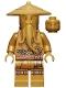Minifig No: njo658  Name: Wu Sensei - Legacy, Pearl Gold Robe