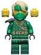Minifig No: njo682  Name: Lloyd - The Island, Mask and Hair with Bandana, Armor Shoulder Pad