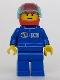 Minifig No: oct018  Name: Octan - Blue Oil, Blue Legs, Red Helmet, Trans-Light Blue Visor