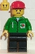 Minifig No: oct020  Name: Octan - Green Jacket with Pen, Black Legs, Red Cap