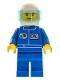 Minifig No: oct021  Name: Octan - Blue Oil, Blue Legs, White Helmet, Trans-Light Blue Visor