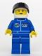Minifig No: oct022  Name: Octan - Blue Oil, Blue Legs, White Helmet, Black Visor