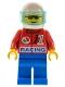 Minifig No: oct028  Name: Octan - Racing, Blue Legs, White Helmet, Trans-Light Blue Visor
