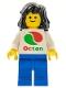 Minifig No: oct048  Name: Octan - White Logo, Blue Legs, Black Mid-Length Female Hair