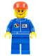 Minifig No: oct049  Name: Octan - Blue Oil, Blue Legs, Red Cap, Chin Dimple