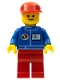 Minifig No: oct050  Name: Octan - Blue Oil, Red Legs, Red Flat Cap
