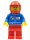 Minifig No: oct051  Name: Octan - Blue Oil, Red Legs, Red Helmet, Trans-Black Visor