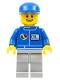 Minifig No: oct063  Name: Octan - Blue Oil, Light Bluish Gray Legs, Blue Cap