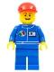 Minifig No: oct065  Name: Octan - Blue Oil, Blue Legs, Red Short Bill Cap, Open Grin