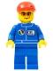 Minifig No: oct067  Name: Octan - Blue Oil, Blue Legs, Red Short Bill Cap, Orange Sunglasses