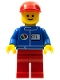 Minifig No: oct070  Name: Octan - Blue Oil, Red Legs, Red Curved Cap