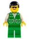 Minifig No: pck019  Name: Jacket Green with 2 Large Pockets - Green Legs, Black Male Hair
