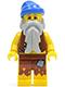 Minifig No: pi100  Name: Pirate Vest and Anchor Tattoo, Gray Beard, Blue Bandana (Castaway)