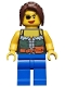 Minifig No: pi101  Name: Pirate Female, Blue Legs