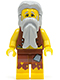 Minifig No: pi112  Name: Pirate Vest and Anchor Tattoo, Gray Beard, Gray Hair (Castaway)