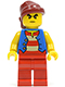 Minifig No: pi145  Name: Pirate Blue Vest, Red Legs, Dark Red Bandana, Bushy Eyebrows