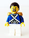 Minifig No: pi150  Name: Bluecoat Sergeant 1 - Brown Moustache and Goatee