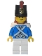 Minifig No: pi154  Name: Bluecoat Soldier 3 - Lopsided Grin